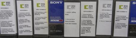 Video cassettes digitised within the framework of the DCA project (photograph: WRO Art Center).
